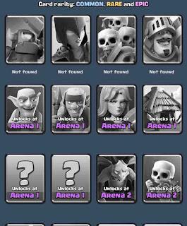 kartu yang terkunci pada clash royale