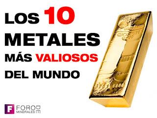 los diez minerales mas valiosos del mundo - foro de minerales