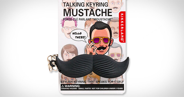 Talking Keyring Mustache