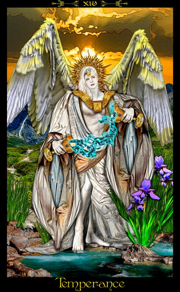 Xiv Temperance Balance Archangel Zadkiel: Elizabeth Rose Psychic And Tarot: Tarot Illuminati By Erik