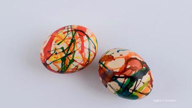 Barvanje pirhov s pihanjem