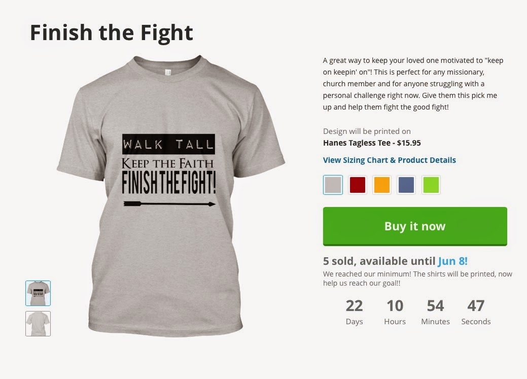 bb661b081 If you are interested in purchasing yourself or a loved one, please just  click this link: http://teespring.com/wear-finish-the-fight