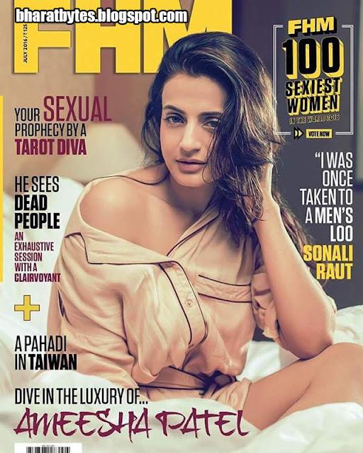 Actress, Model, @ Amisha Patel - FHM India July 2016