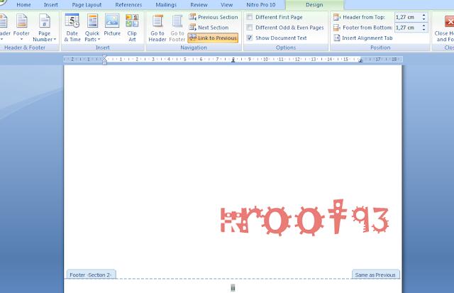 Membuat penomoran halaman di ms word berbeda posisi