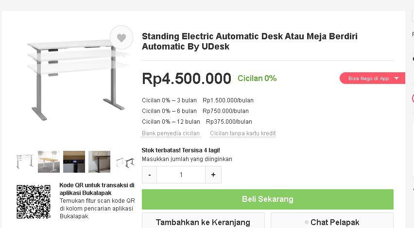 standing desk harganya masih mahal