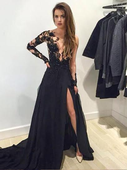 https://www.simple-dress.com/sexy-prom-dress-mermaid-v-neck-long-sleeves-with-appliques.html