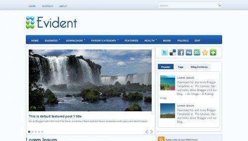 تحميل قالب Evident الشهير لمدونات بلوجر النسختين العربية والانجليزية من أسرع القوالب أرشفة على الإطلاق