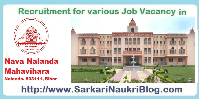 Naukri Vacancy Recruitment in Nava Nalanda Mahavihara