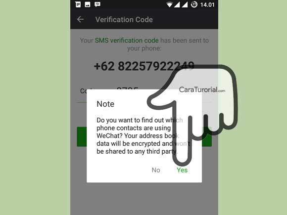 Note Verification Code Wechat