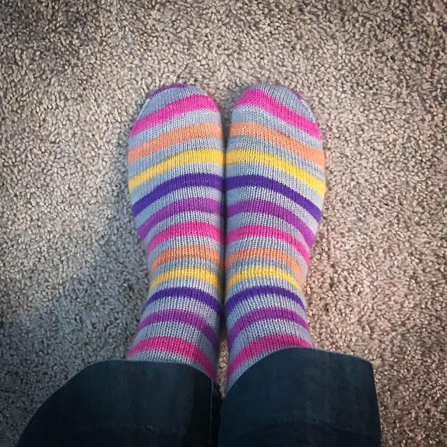 Self Striping Sock Yarn Afterthought Heel