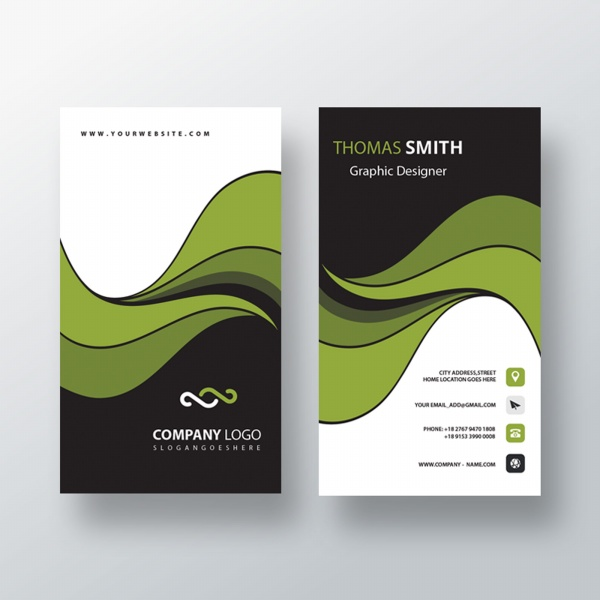 Business Cards, Best Business Cards Green Technology Business Card Free PSD Template