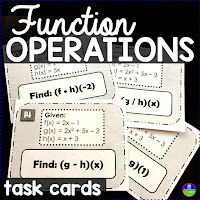 Function operations task cards