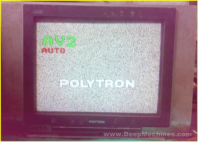 TV POLYTRON 21-Inc (MX5203M) - No Raster / Blank Hitam (Kerusakan IC RF)