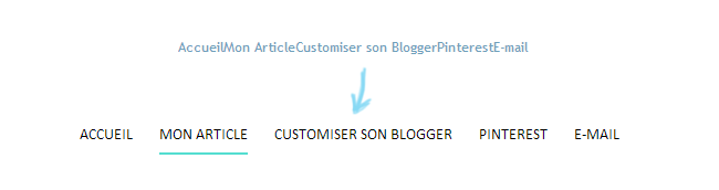 Tuto Blog : Exemple code CSS menu blogger . Lady Bird Red || http://ladybirdr.blogspot.fr/