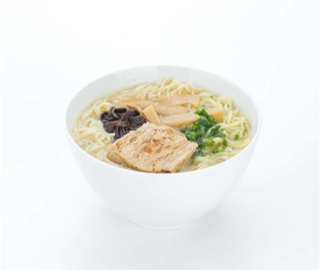 Vegetarian Tonkotsu style ramen available on JAL Anytime You Wish menu
