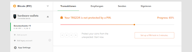 Membuat PIN Wallet Trezor Model T