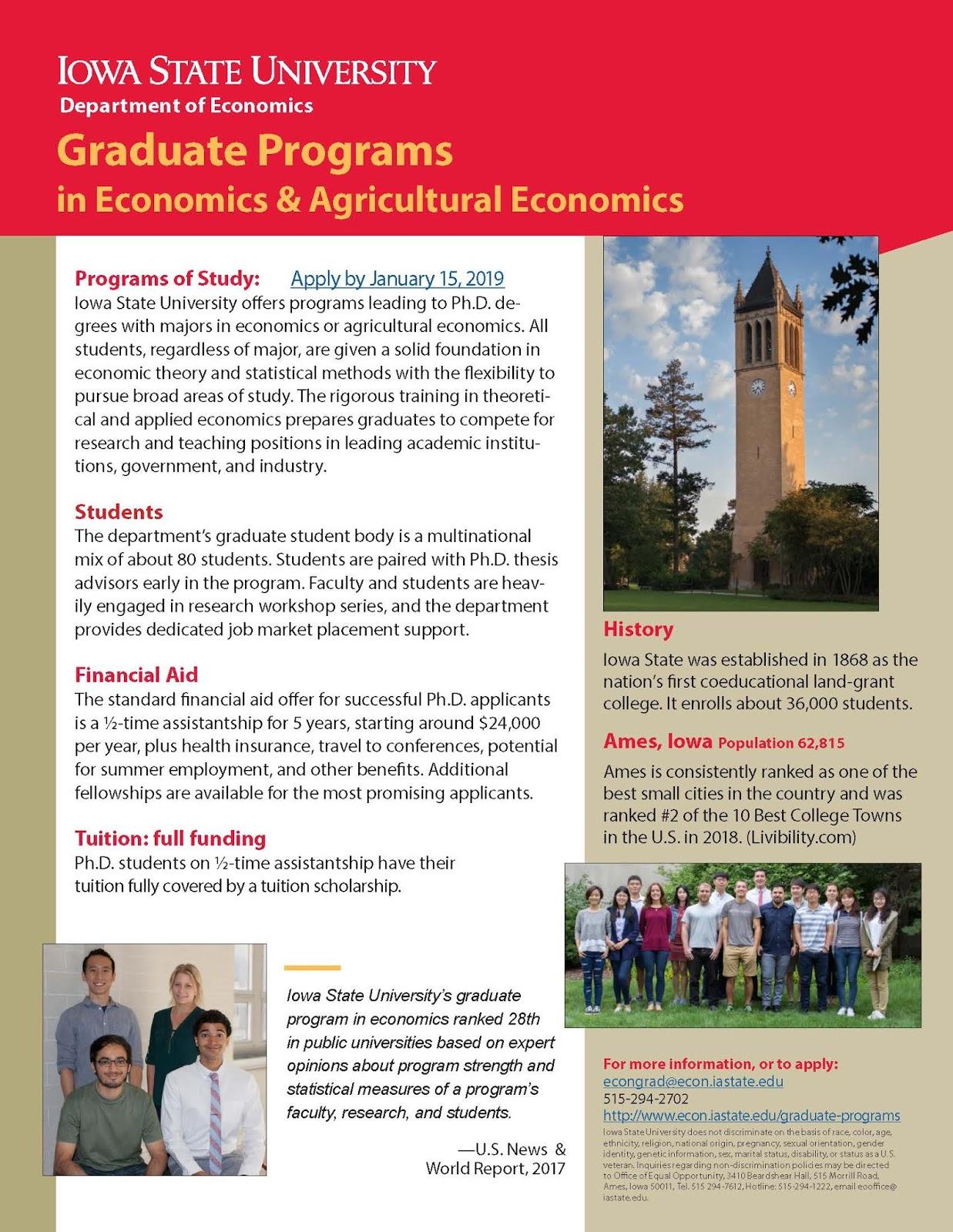 ECON Undergraduate Blog: Economics and Ag Economics PhD programs at