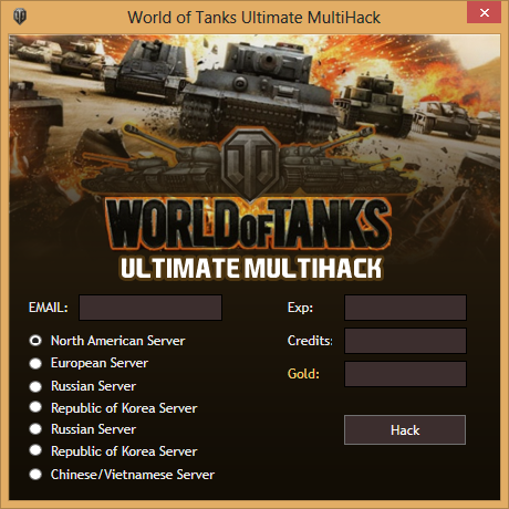 world of tanks cheat gold and credits
