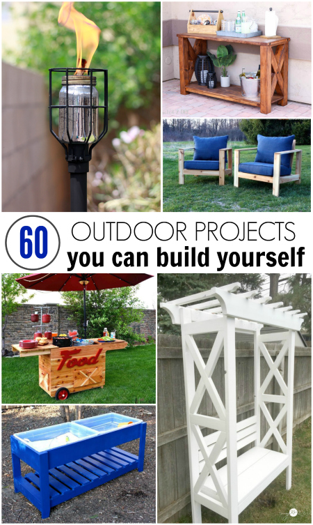 I've rounded up 60 of the best DIY outdoor projects that you can build yourself!