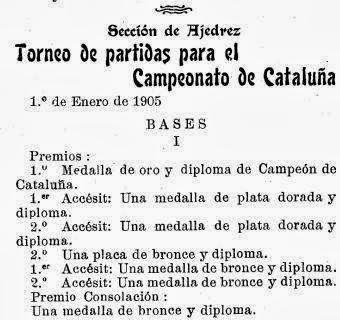 Recortes sobre Torneo de Ajedrez para el Campeonato de Cataluña disputado en 1905 en Barcelona (8)
