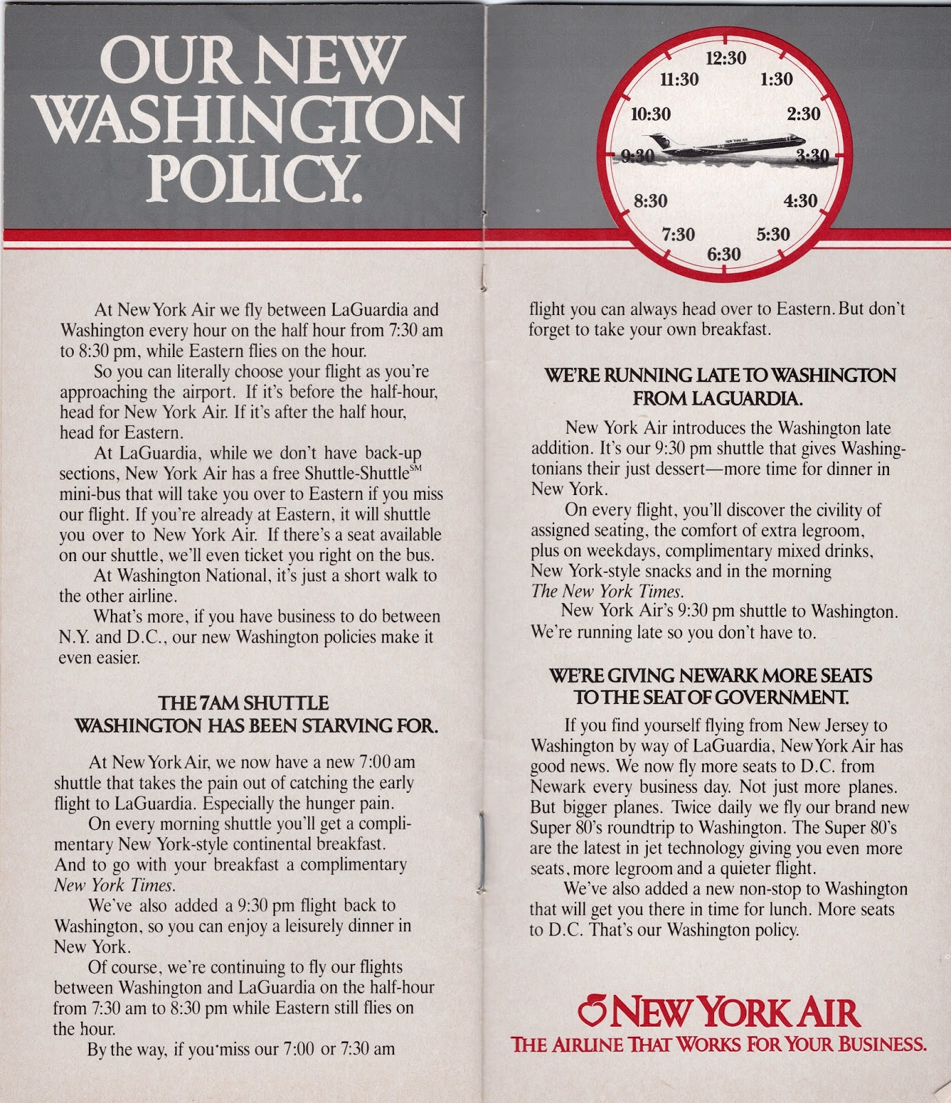 New York Air system timetable 7//1//84 Buy 4 9111 save 25/%