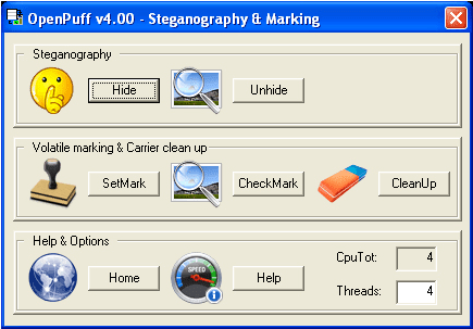 OpenPuff: A Professional Steganography Tool