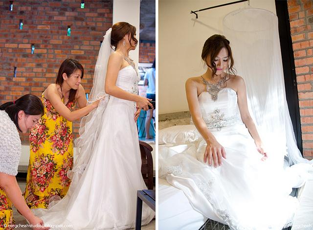 bride maids in batik, floral prints