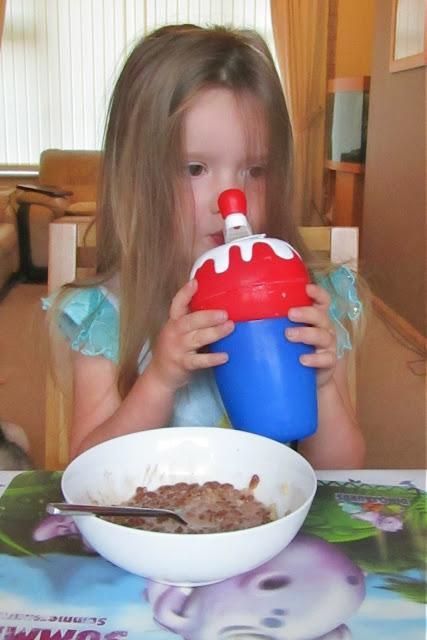 Summer drinking her milkshake