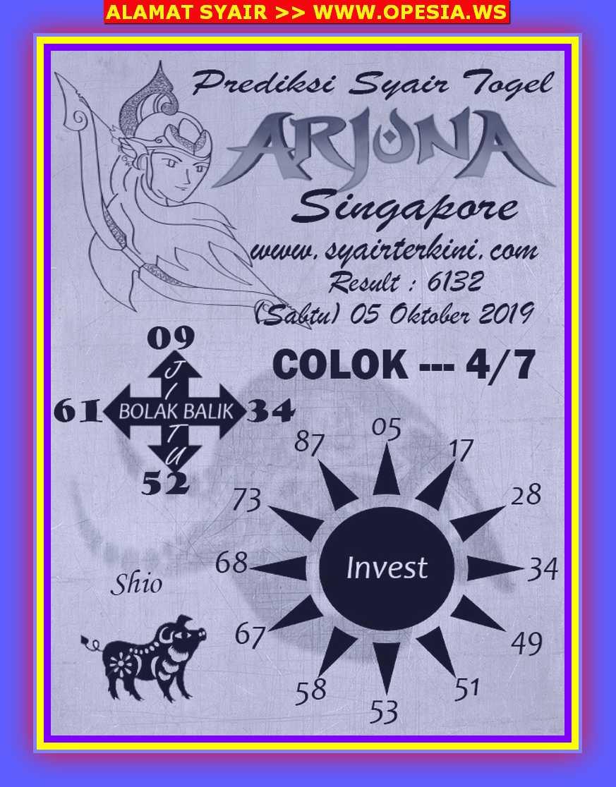 Kode syair Singapore Sabtu 5 Oktober 2019 26