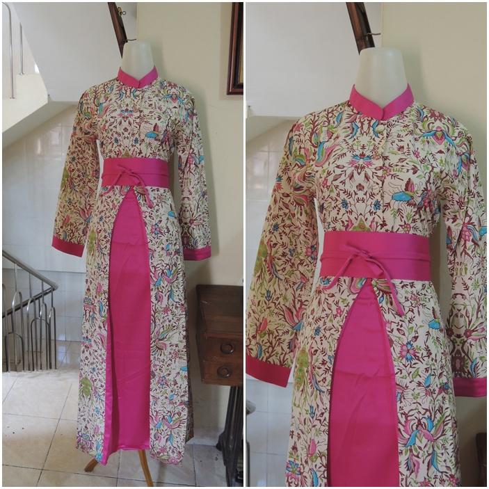 Palastri Shop Gabriella Shop Perpaduan Gamis Batik Dan Satin Velvet