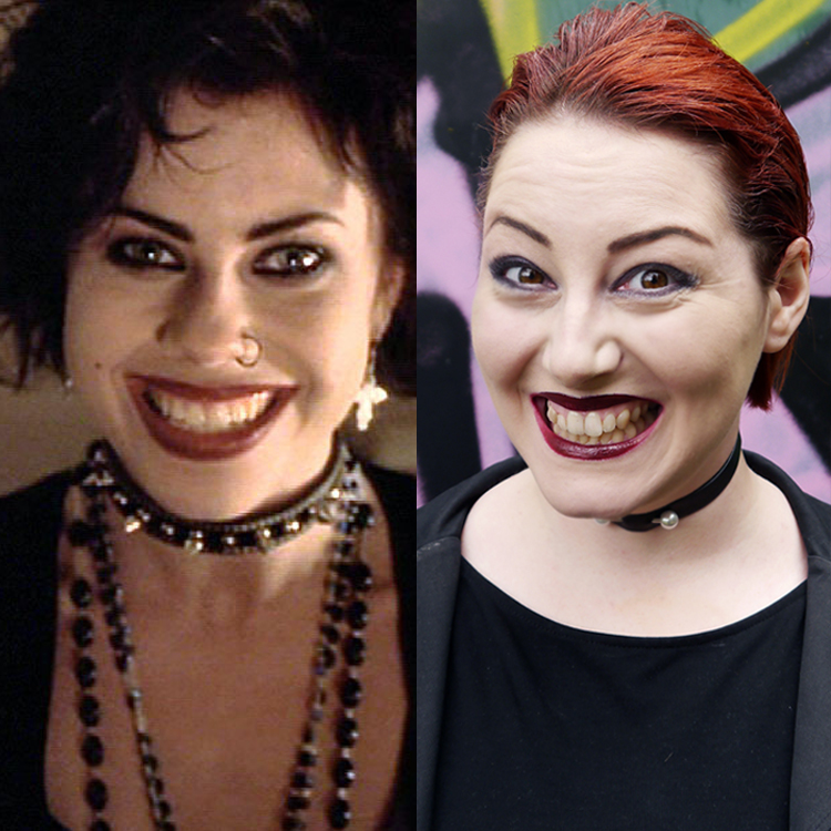 Scottish blogger Helen from Wardrobe Conversations dresses up as Nancy from 90s film The Craft for Halloween