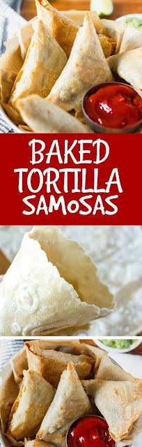 Baked Tortilla Samosas Vegan and Gluten-Free