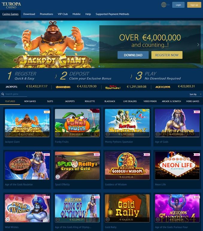 europa casino развод