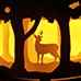 Christmas Crafts paper lights harry potter deer forrest DIY