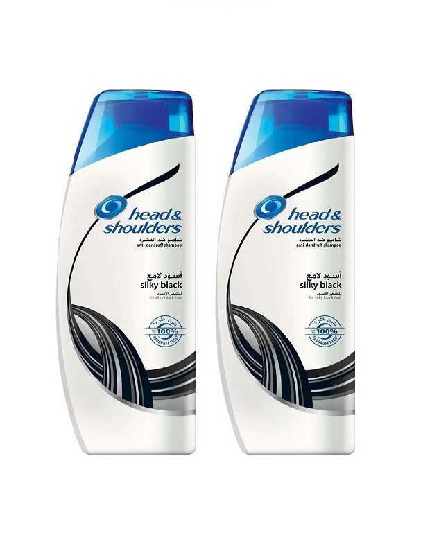 Pack Of 2 - Head And Shoulder Silky Black Shampoo 400 ml