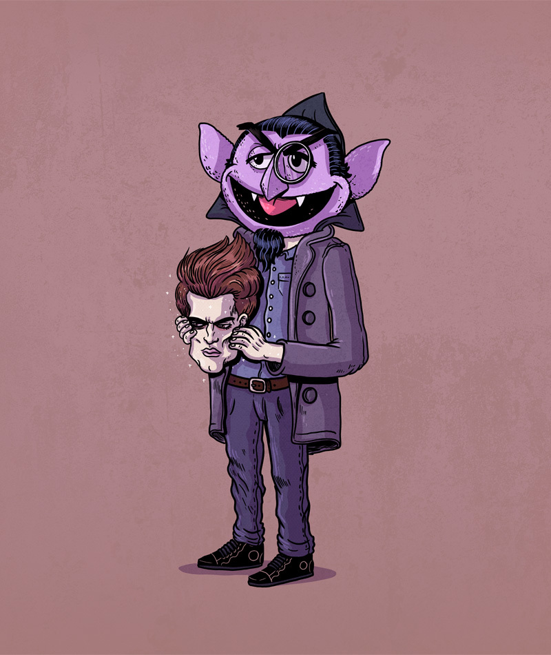 16-Edward-and-Count-von-Count-Alex-Solis-Illustrations-of-Icons-Unmasked-www-designstack-co