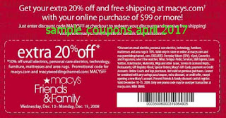 free Macy's coupons april 2017