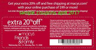 free Macy's coupons april 2017