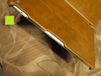 hinten: Leicke MANNA Schutzhülle Apple iPad Air 2 braun