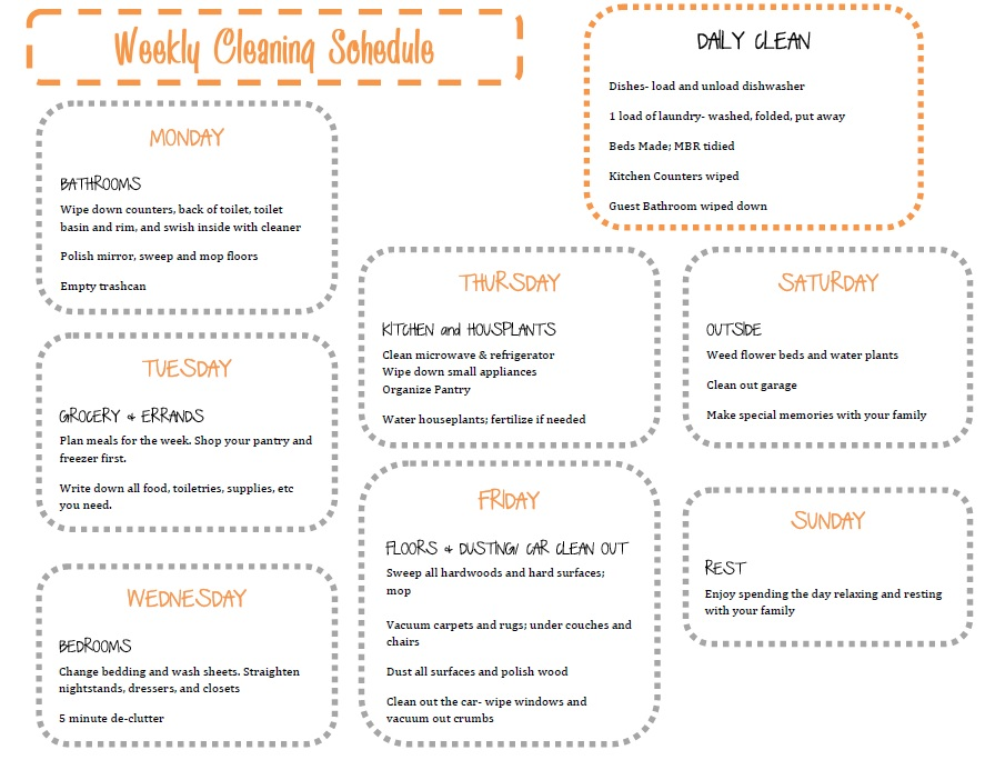 House Cleaning Printable House House Cleaning List For Maid