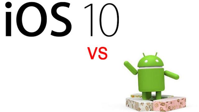 Perbedaan iOS 10 Vs Android 7.0 Nougat