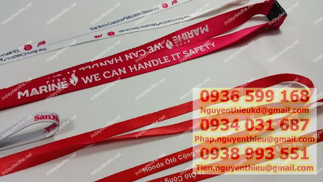 Công ty in dây đeo thẻ giá rẻ, nơi  in dây đeo thẻ nhiều màu giá rẻ, xưởng in dây đeo thẻ nhiều màu