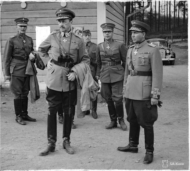 Marshal CGE Mannerheim and General Talvela 29 June 1941 worldwartwo.filminspector.com