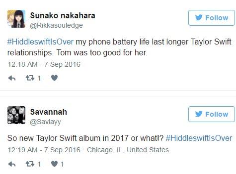 #HiddleswiftIsOver: Twitter mocks Taylor Swift & Tom Hiddleston over breakup