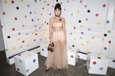 Bella Hadid in Dior at the The Art of Color exhibition in New York City. Photo: Nicholas Hunt/Getty Images for Dior Beauty