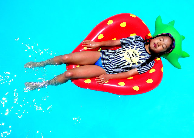 strawberry floatie for summer fun