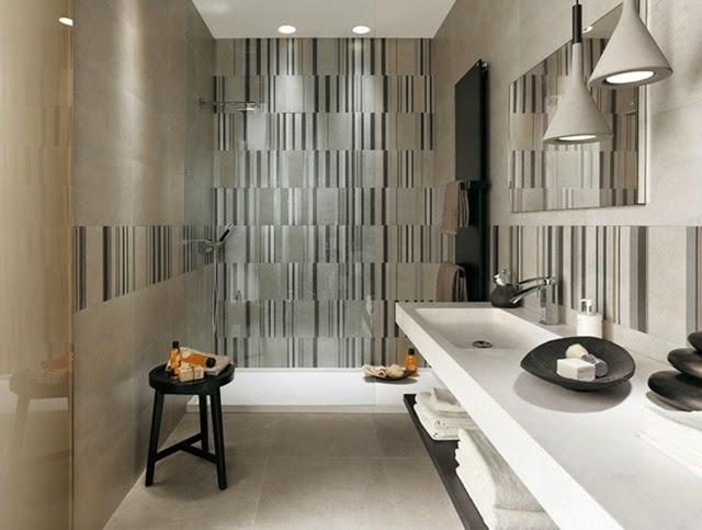 Ba os modernos con azulejos colores en casa for Decoracion banos modernos azulejos