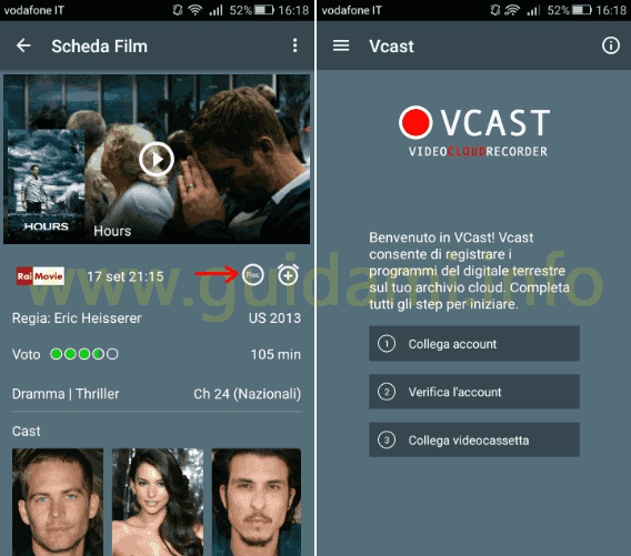 App Super Guida TV Android iPhone tasto Rec