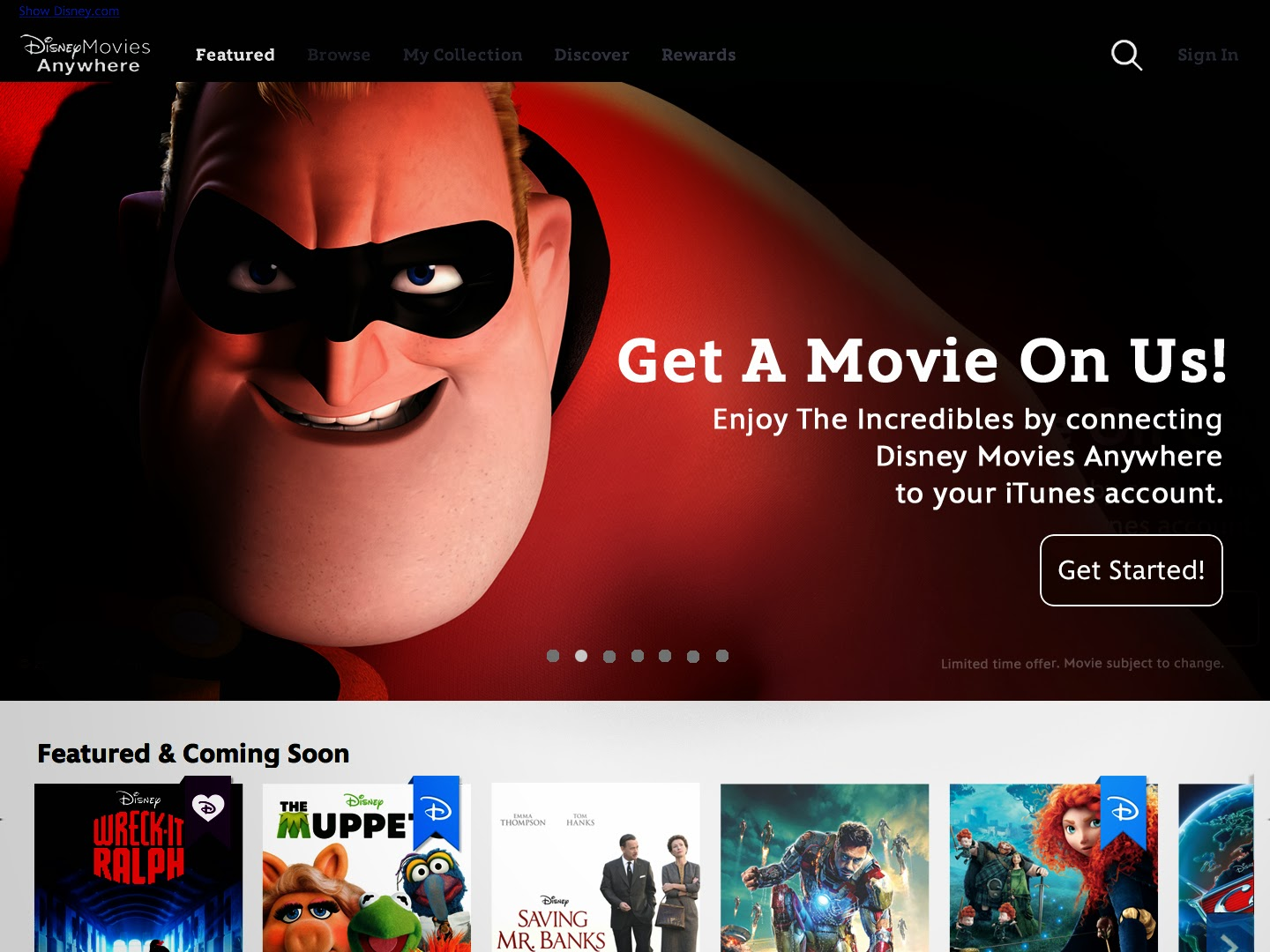 "Disney Launches Disney Movies Anywhere on iTunes with 400 Titles Plus Free digital copy of ""The Incredibles"""