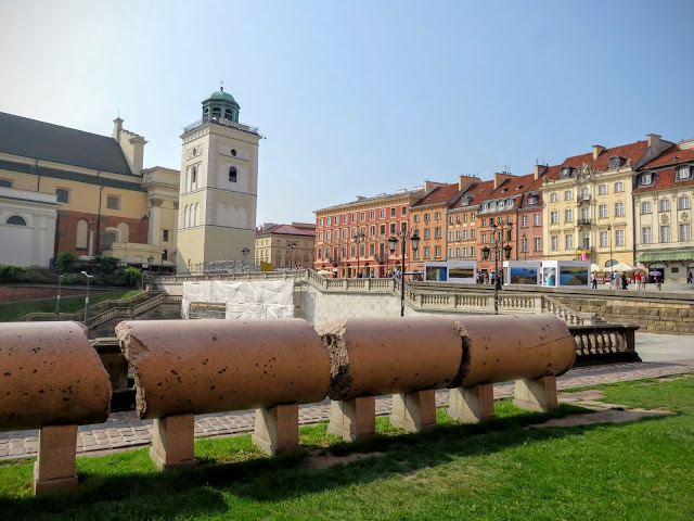 Remnants of the original Sigismund's Column in Warsaw, Poland